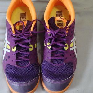 ASICS SHOES PURPLE/ORANGE 12M